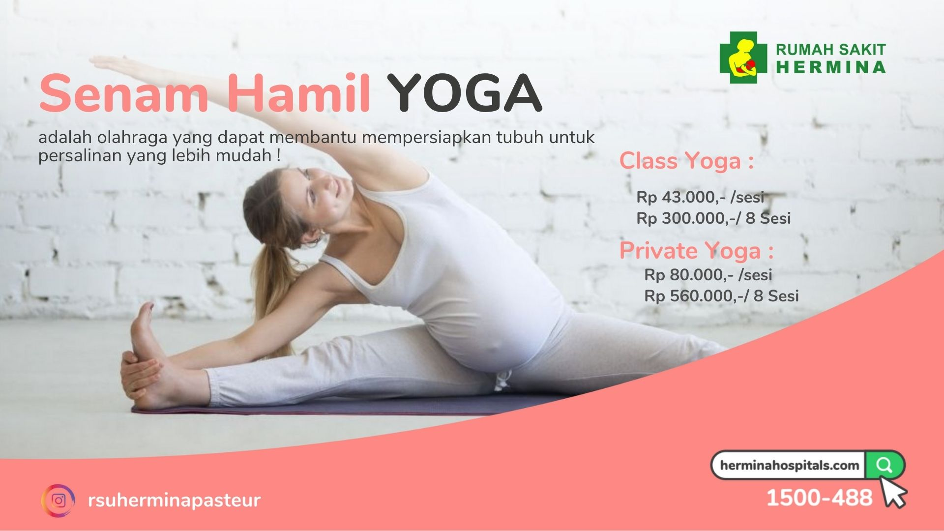 Senam Hamil Yoga RS Hermina Pasteur