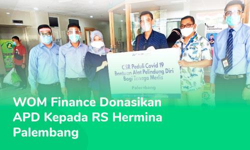 WOM Finance CSR Program Donates Personal Protective Equipment to RS Hermina Palembang