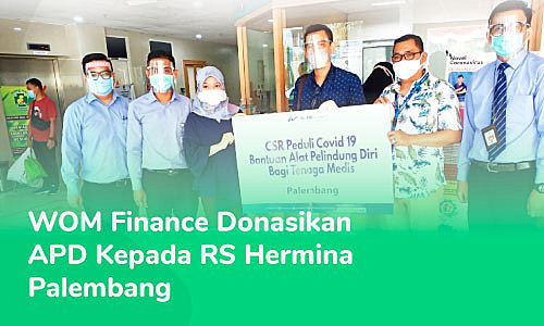 WOM Finance CSR Program Donates Personal Protective Equipment to RS Hermina Palembang