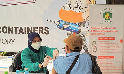 RSU Hermina Pandanaran Laksanakan Vaksin Gotong Royong, Karyawan PT. Suryo Renggo Containers Divaksinasi
