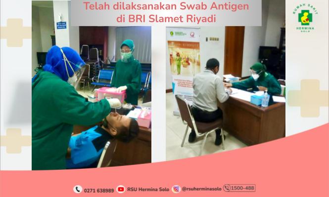 Swab Antigen Bersama Karyawan BRI Solo Sudirman