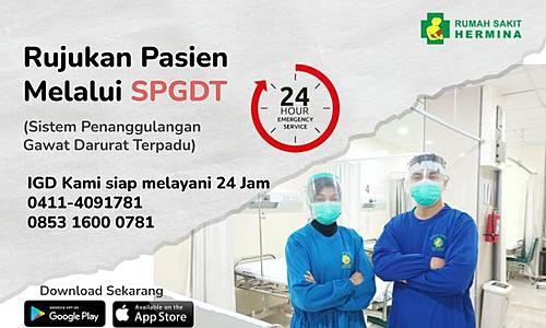 Rujukan Melalui SPGDT RS. Hermina Makassar
