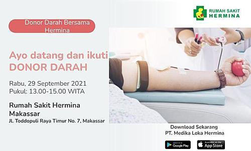 Donor Darah bersama RS. Hermina Makassar