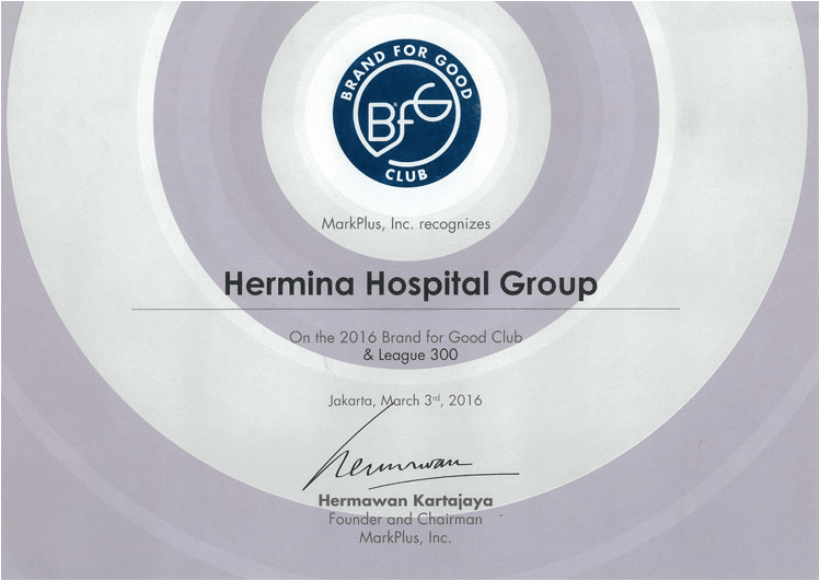 Hermina Award Brand For Good Club - 2016