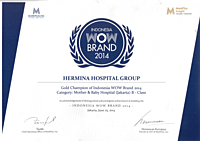 Hermina Award Markplus Gold Champion of Indonesia WOW Brand - 2014