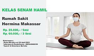 Kelas Senam Hamil RS. Hermina Makassar