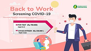 Dapatkan Screening Covid-19 Dalam rangka Back to Work dengan Harga Spesial