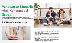 Penawaran Menarik Alat Kontrasepsi Gratis di RS. Hermina Makassar