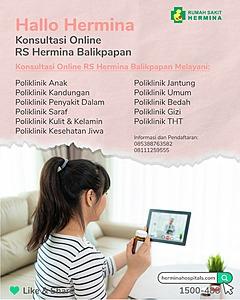 Konsultasi Online (Halo Hermina) dengan Dokter Umum dan Dokter Spesialis di RS Hermina Balikpapan.