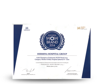 Hermina Award Gold Champion of Indonesia WOW Brand
